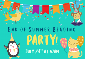 End of Summer Reading Party - Partnered and Independent Readers @ Custer Elementary School