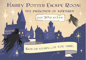 Harry Potter Escape Room! @ Custer County Library - Main Branch 447 Crook St.