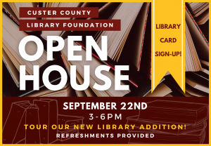 Custer County Library Foundation Open House @ Custer County Library